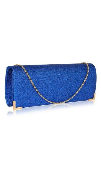Clutch glitter blauw  3629