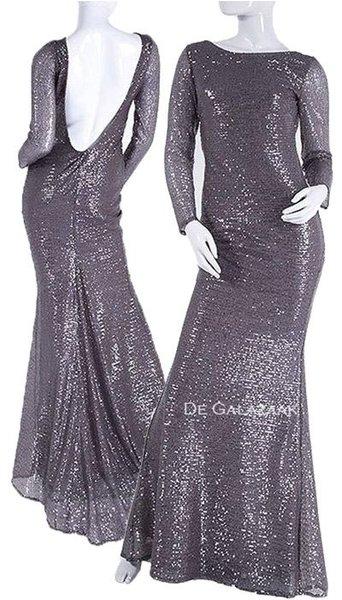 Zilveren lange jurk  3600