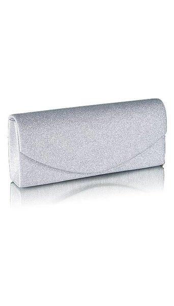 GLZK 3 Zilveren glitter clutch