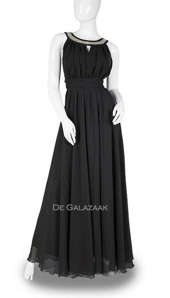 Zwarte lange jurk  3705