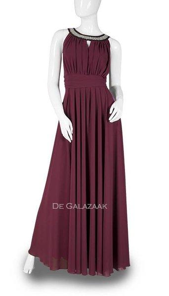 Bordeaux rode lange jurk  3706