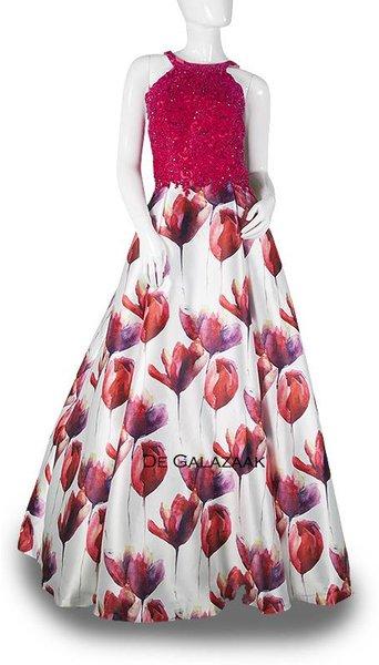 Galajurk  met bloemen  3716
