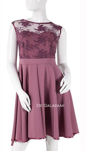 Oud roze feestjurkje  3739