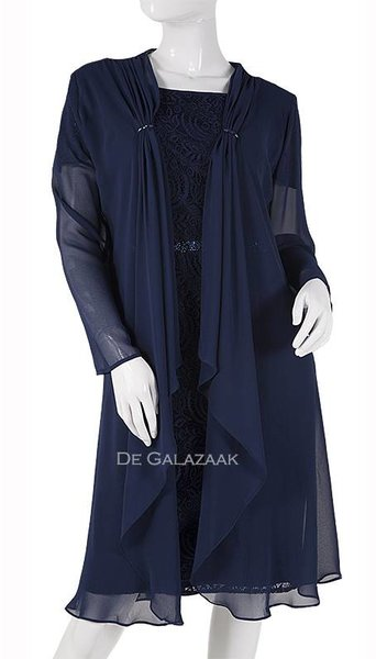 Cocktail- set  navy blauw  3747