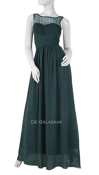 Emerald groene avondjurk  3782