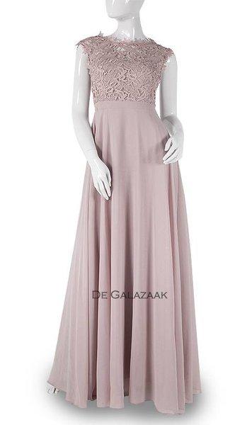 Oud roze lange jurk 3776