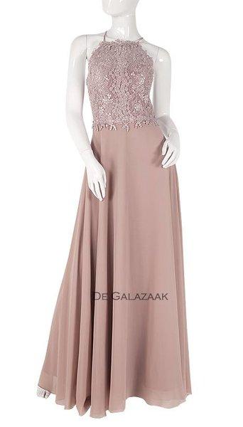 Roze lange jurk  3760