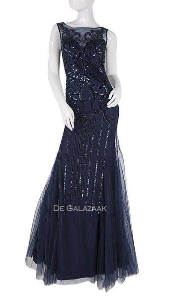 Tule lange jurk 3810