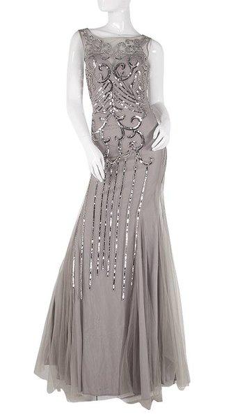 Tule lange jurk  3811