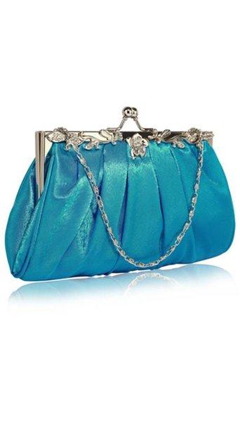 Clutch aqua blauw 3843
