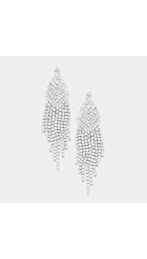 GLZK 1 Zilveren strass oorbellen