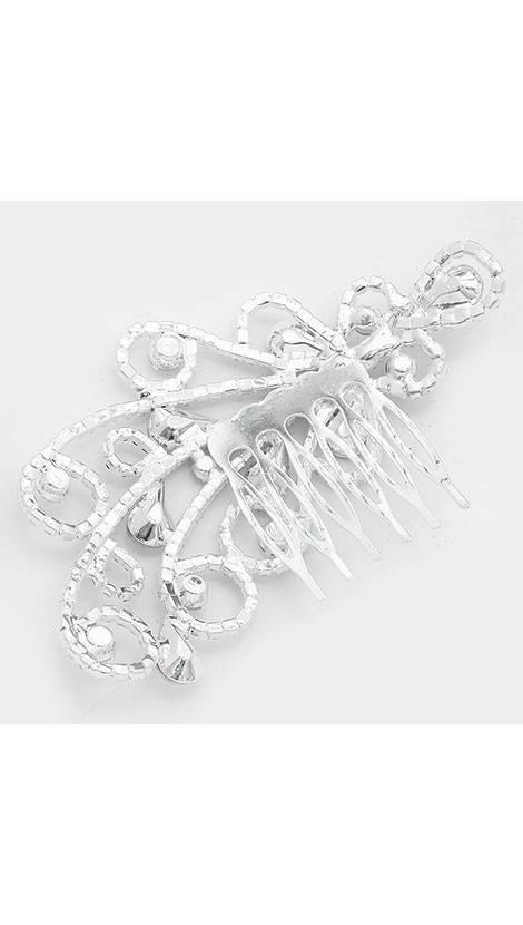 GLZK 1 Zilveren haarkam