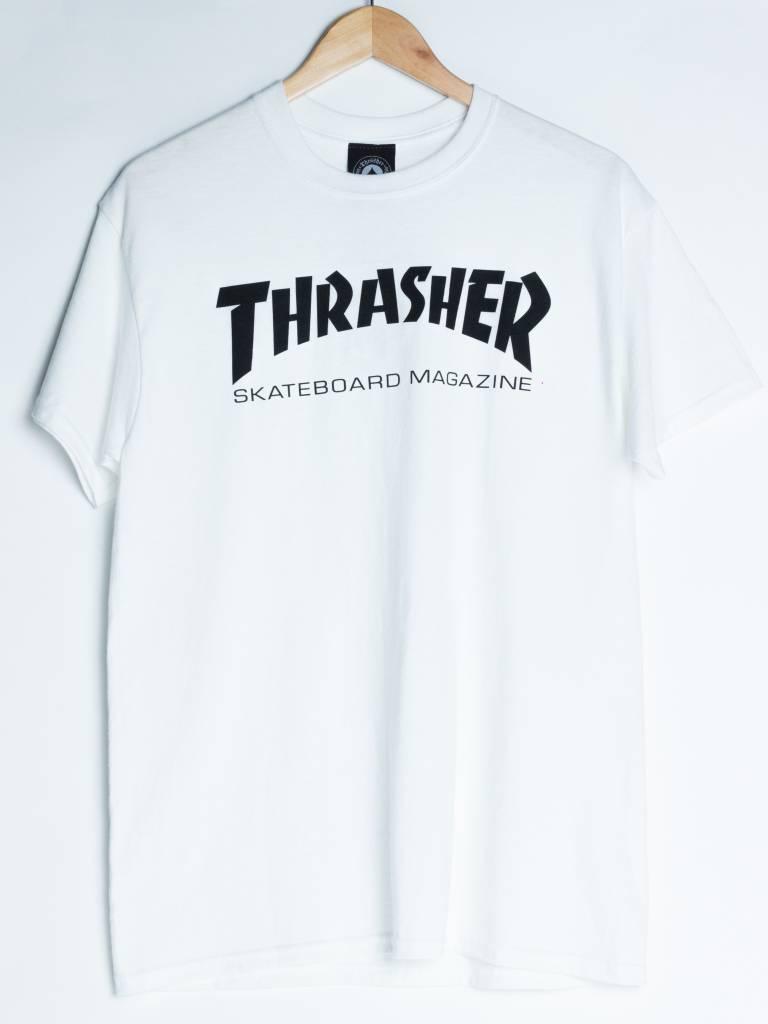 Thrasher Skateboard Magazine Thrasher Skate Mag Tee | White