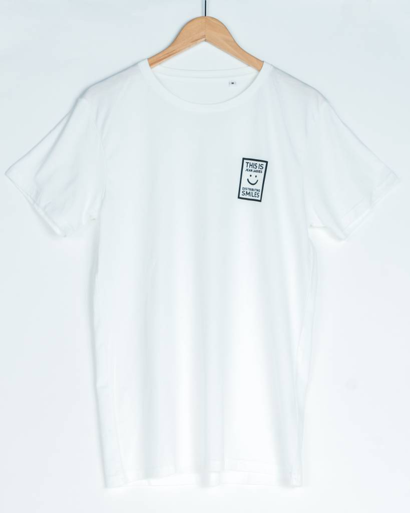 Jean Jaques This Is Jean Jaques Distributing Smiles Tee | White