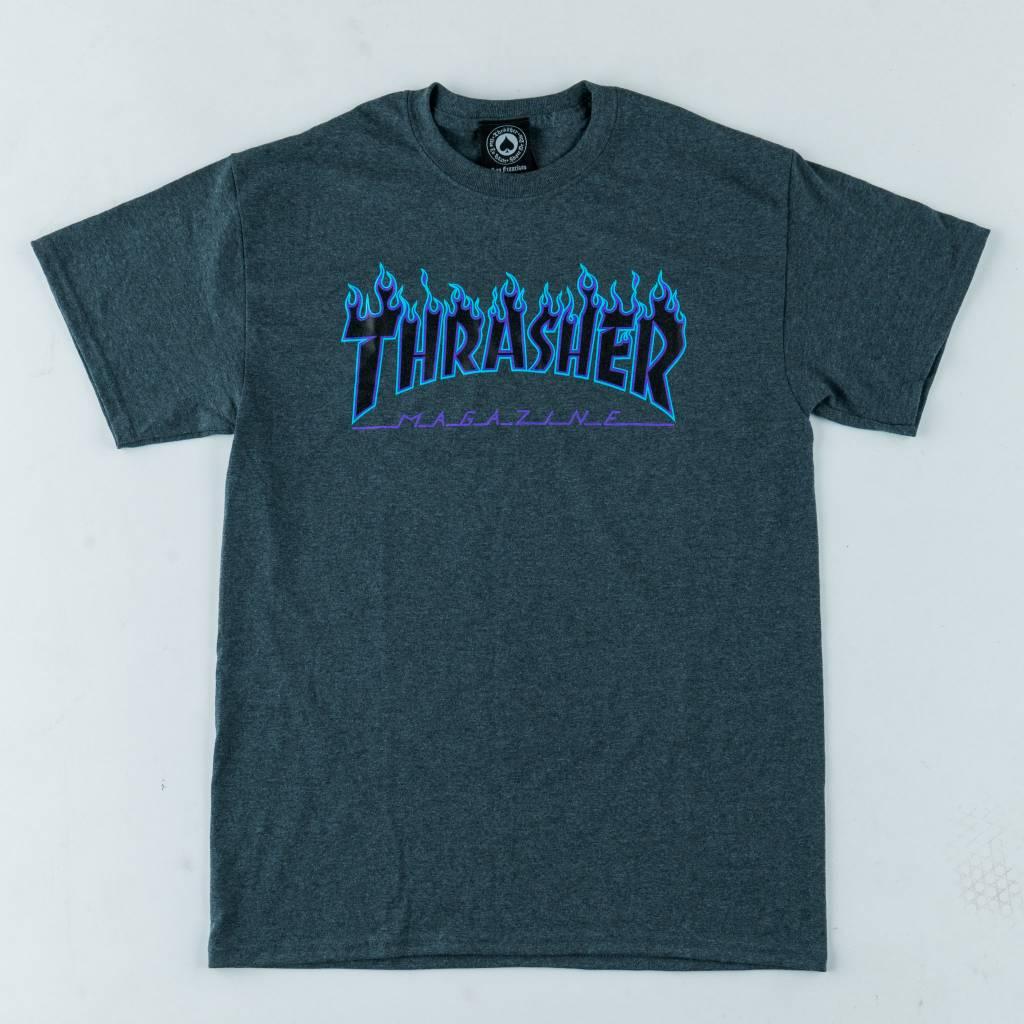 Thrasher Skateboard Magazine Thrasher Flame Tee | Dark Heather