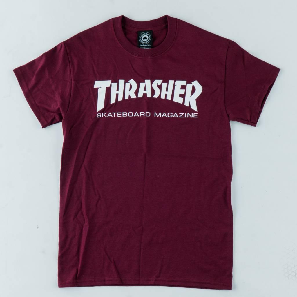 Thrasher Skateboard Magazine Thrasher Skate Mag Tee | Maroon