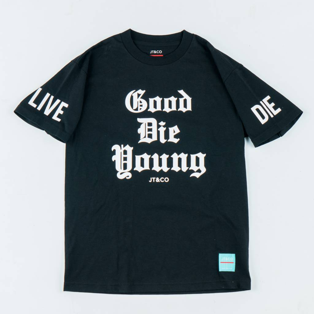 JT & CO JT&CO   Good Die Young Tee - Black