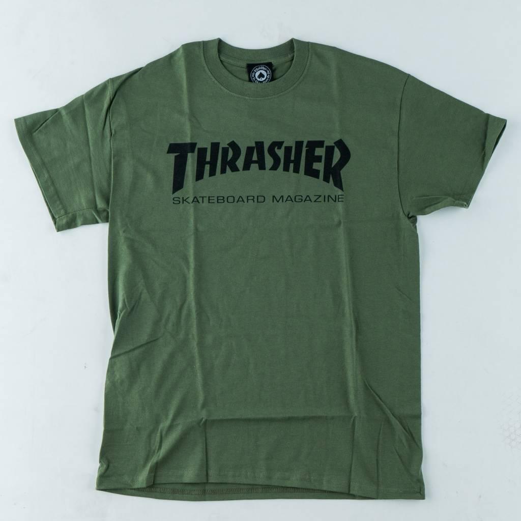 Thrasher Skateboard Magazine Thrasher Skate Mag Tee | Army Green