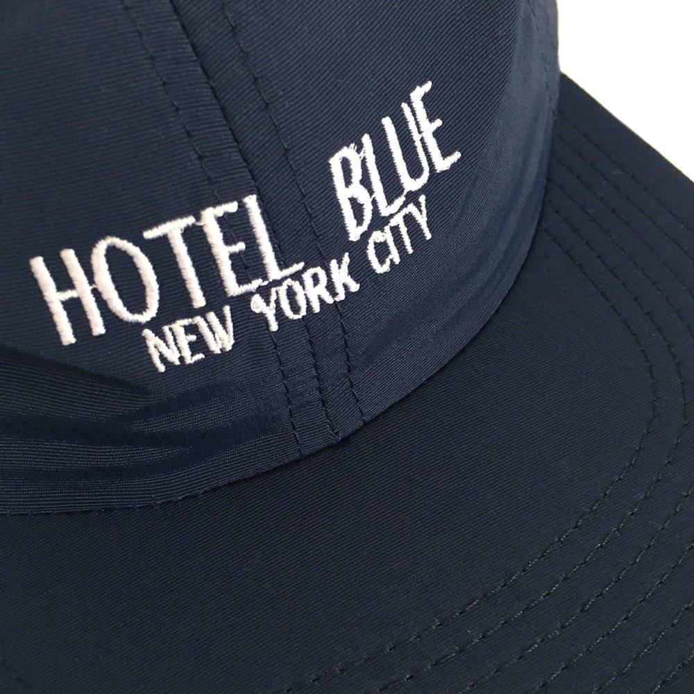 Hotel Blue NYC Hotel Blue NYC   Logo 6 Panel Taslan Cap - Navy/White