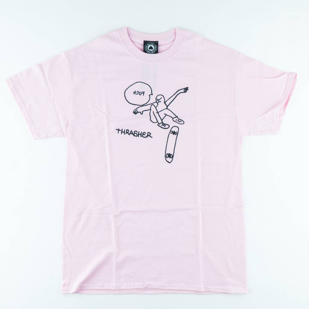 Thrasher Skateboard Magazine Thrasher 'KCUF' Tee | Light Pink
