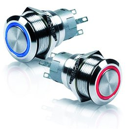 Hellamarine LED Druckschalter