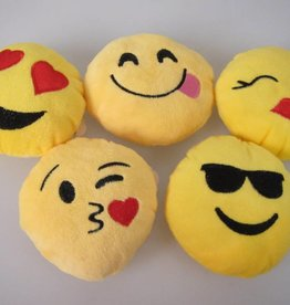Emoji kussentje ca 10 cm per 12 stuks