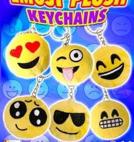 Emoji pluche sleutelhanger per 12 stuks