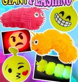 Lichtgevende Rups en Emoji per 12 stuks