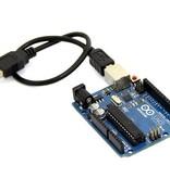 USB Kabel Type A naar B - 25cm Zwart
