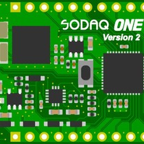 SodaqOne 18650 base board with battery and casing