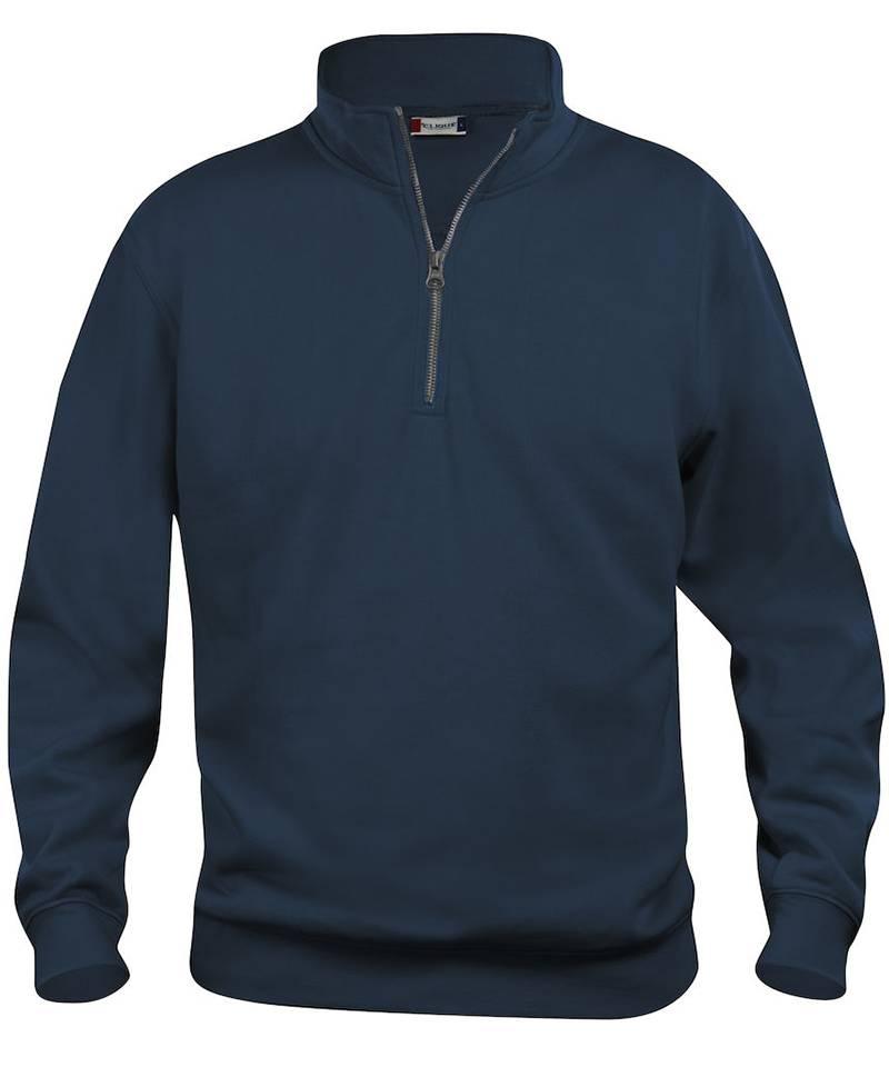 Zipneck sweater Clique Basic