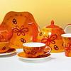 Serie Ashley Becher, Keramik mit Goldauflage