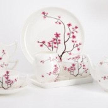 Stövchen - Kirschblüte rot