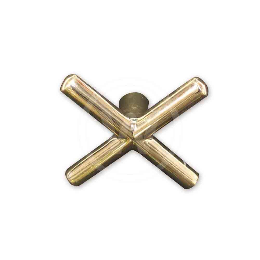 Brug - model kruis, zonder zwarte dop (Uitvoering: koper)