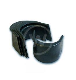 Pocket liner, 4 glad rubber zwart