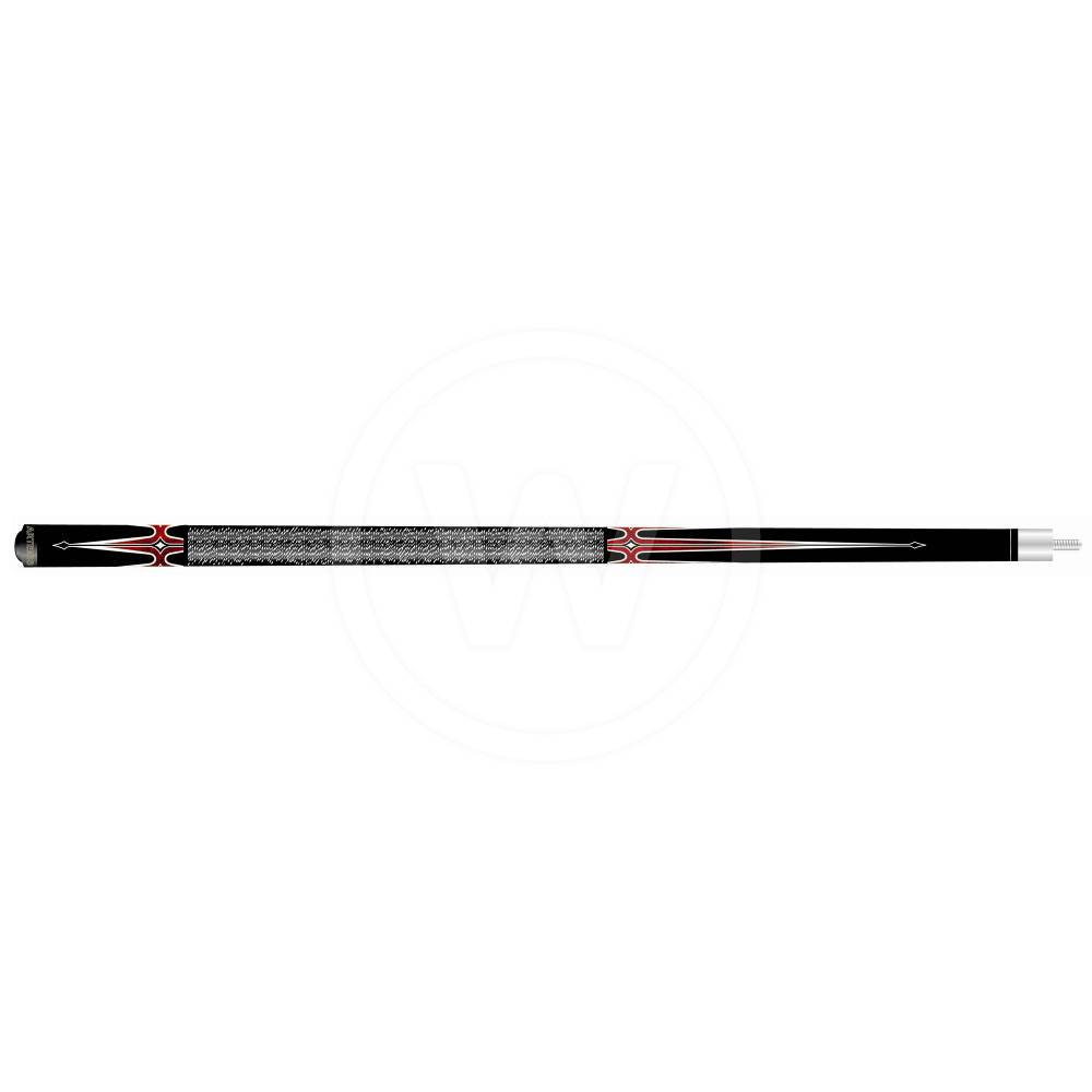 Artemis Artemis pool keu model 3. Zwart - rood/wit (Gewicht: 19 ounce)