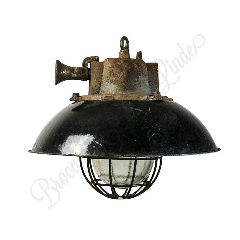 "Industriële fabriekslamp ""Dolni"" met korf"
