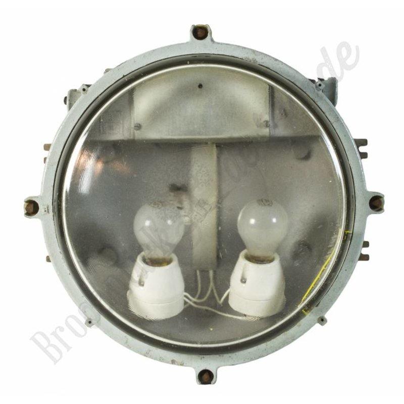 "Industriële wandlamp / fabriekslamp ""Turtle Clear"""