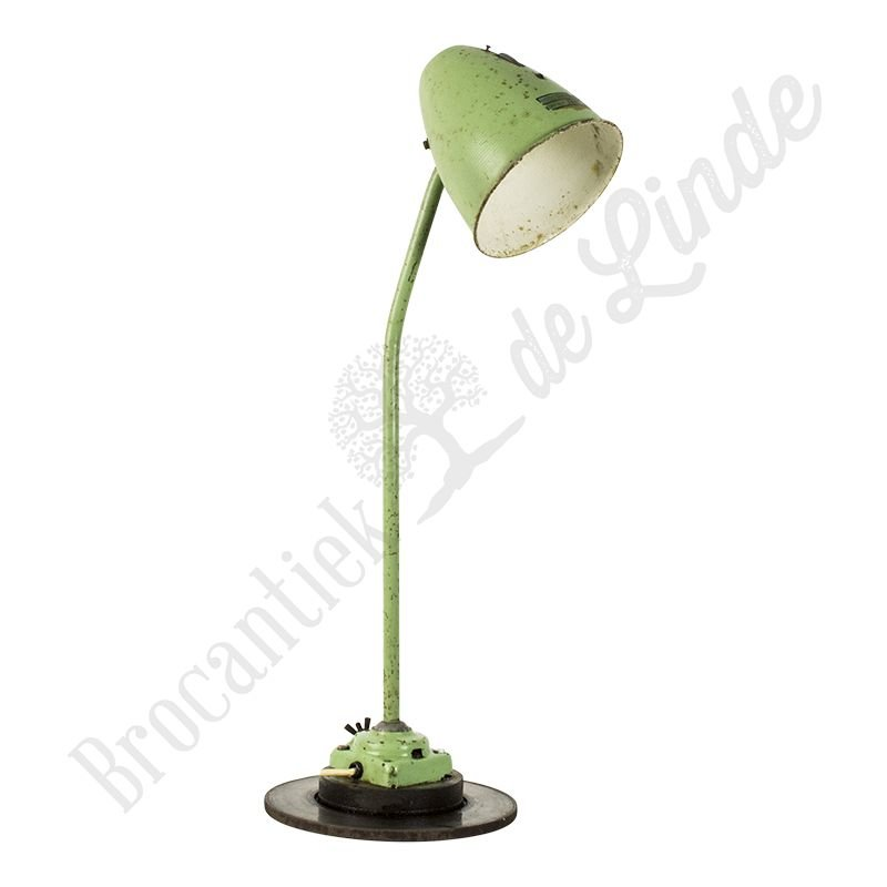 "Vintage monteurslamp ""Green Cobra"""