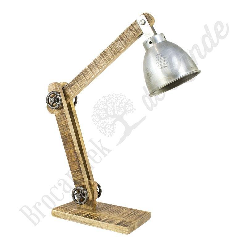 "Industriële bureaulamp ""Wood & Iron"""