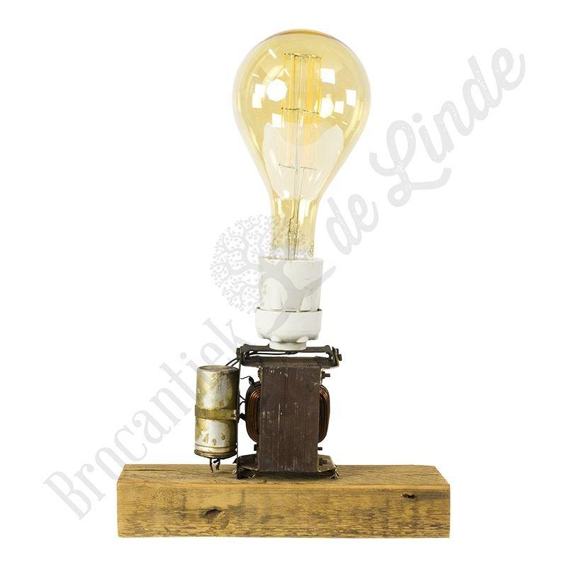 "Industriële tafellamp ""Trafo Gold Splash"""