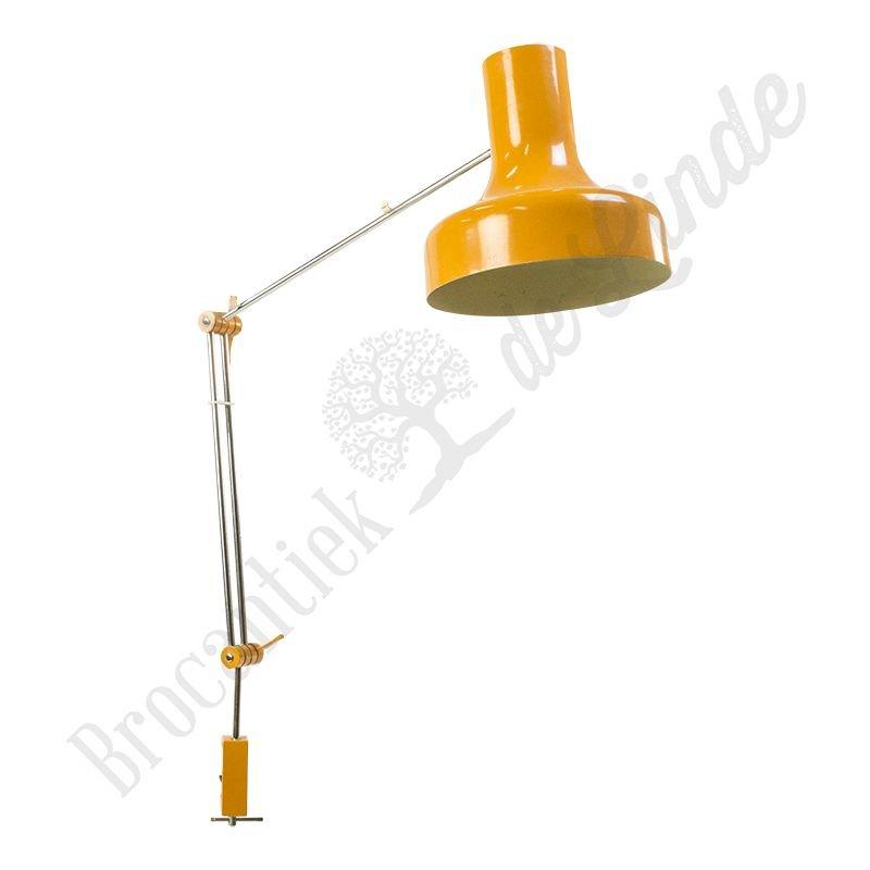 "Vintage klemlamp / kniklamp ""Orange Snake"""
