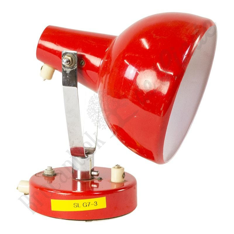 "Rode, retro bureaulamp ""red beatle"""