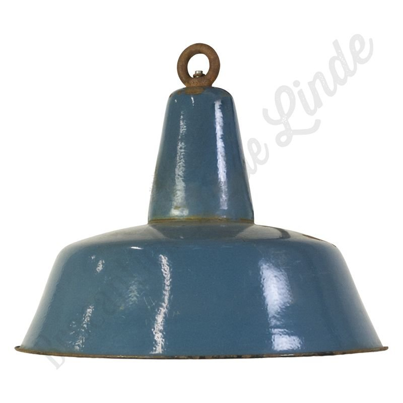 "Industriële Bauhaus lamp ""Blue XL"""