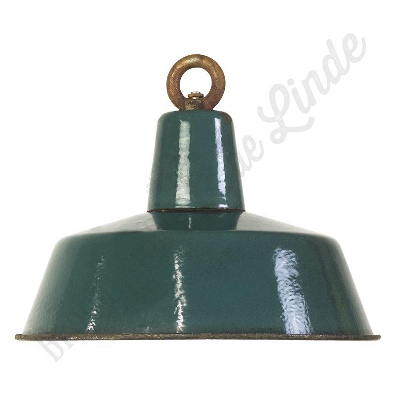 "Vintage Bauhaus lamp ""Ocean No.2"" - emaillen fabriekslamp"