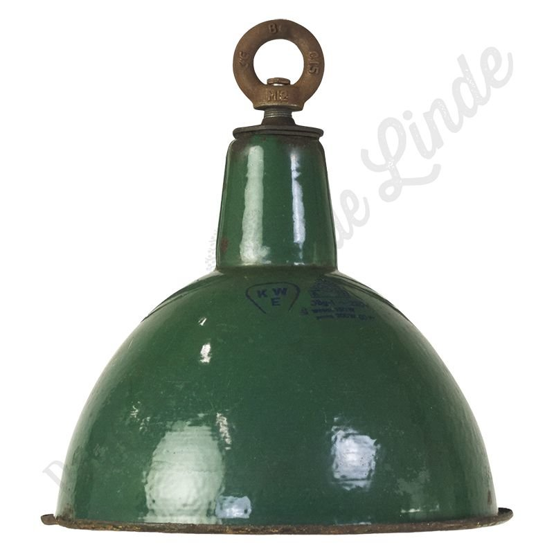 """Unieke Bauhaus lamp """"G&R"""" - emaille"""
