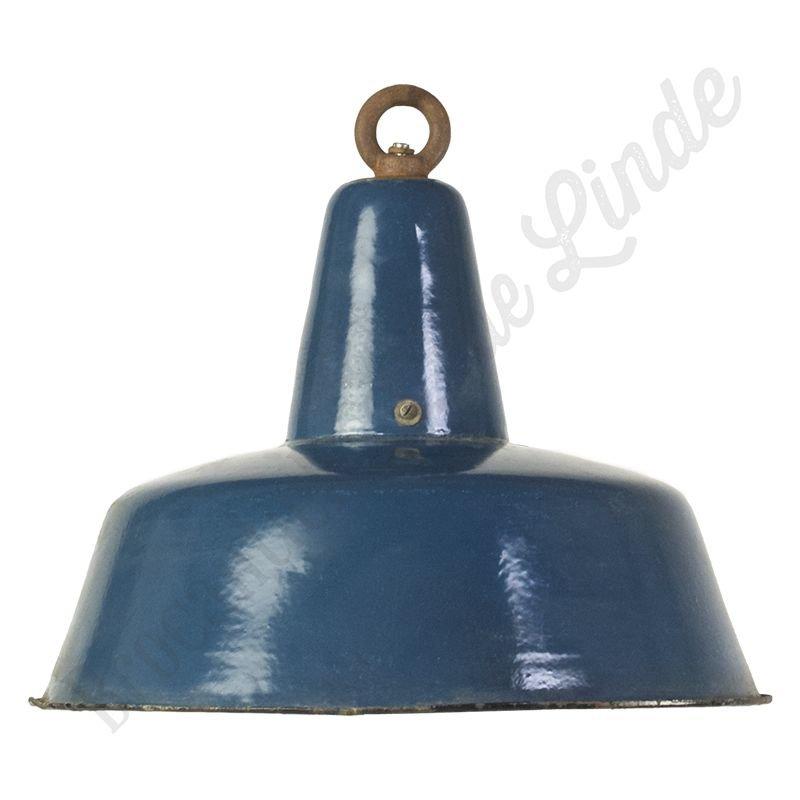 "Industriële bauhaus lamp ""Petrol"" - emaillen hanglamp"
