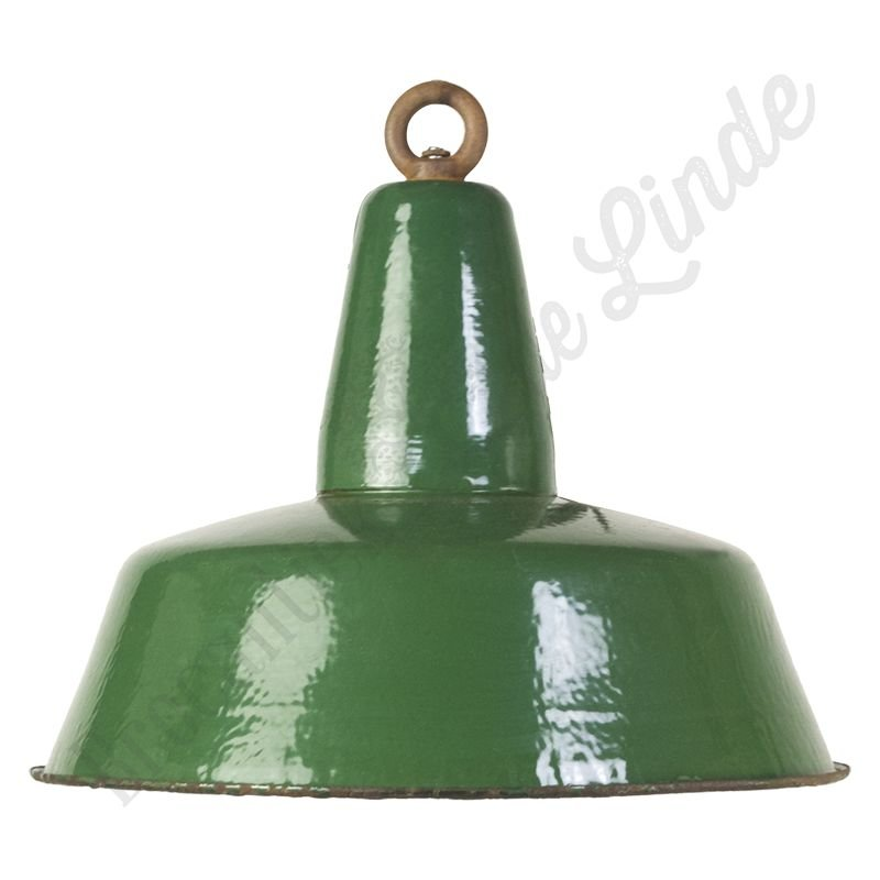 "Originele bauhaus fabriekslamp  ""Dutch Green"" - groen emaille"