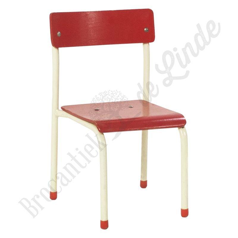 Kinderschoolstoel rood