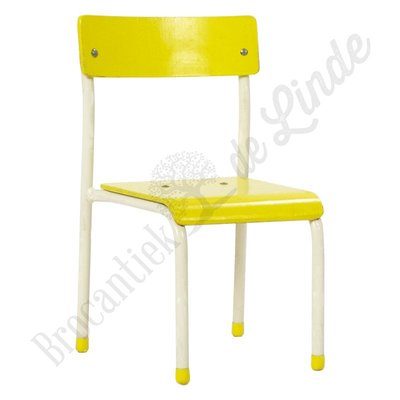 Kinderschoolstoel geel